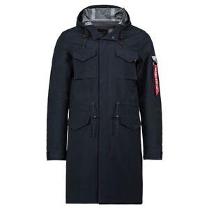 Men Coat Replica Quartermaster Blue Alpha Long Industries Field c3S4L5RAjq
