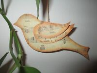 songbird Dangler Ornament Handmade Original Sheet Music Theme 6 Wide