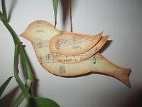 songbird Dangler Ornament Handmade Original Sheet Music Theme 6 Wide