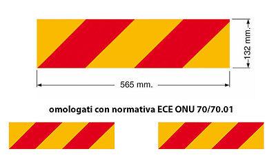 KIT 2 PANNELLI POSTERIORI COPPIA RETRORIFLETTENTI FLUORESCENTI AUTOCARRO 30768