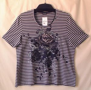 Gestreift Gr Damen Damenshirt Neu 52 Jersey Weber By Samoon Gerry Shirt Viskose 4qRxAAIO