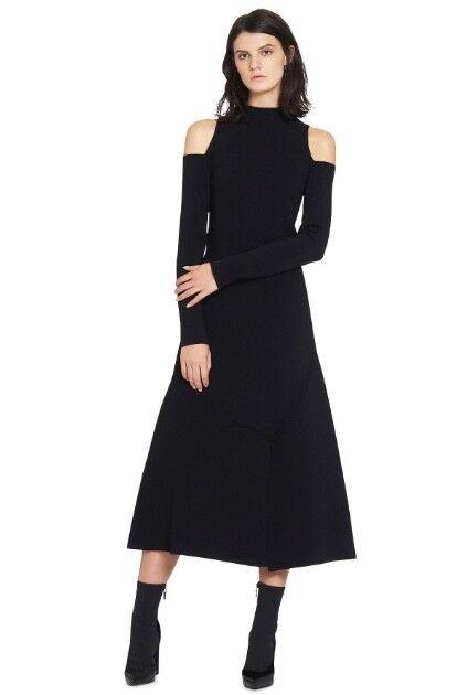 CAMILLA & MARC Lindevall Cut Out Cold Shoulder Dress | Winter Knit Black $600 RP