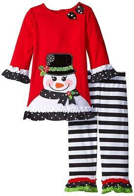 Girls NANNETTE tutu dress 4 4T NWT snowman dot Christmas black red applique