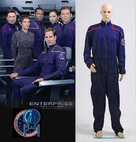 Star Trek Enterprise Duty Jumpsuit Uniform cosplay Costume MM.927 new