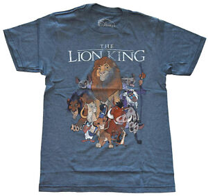 Disney-Lion-King-Distressed-Art-Navy-Heather-Men-039-s-T-Shirt-New