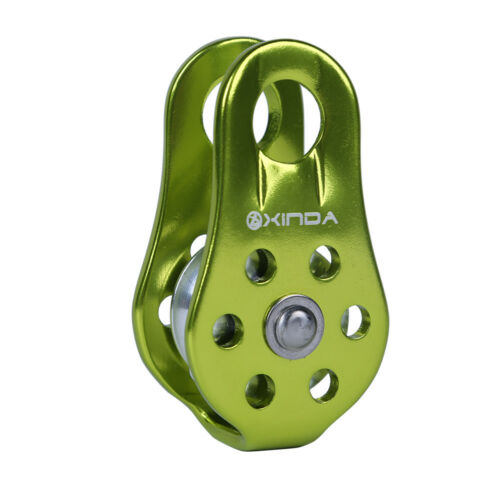 20KN Fixed Side Rope Pulley Carabiner Rock Climbing Arborist Rescue Gear New