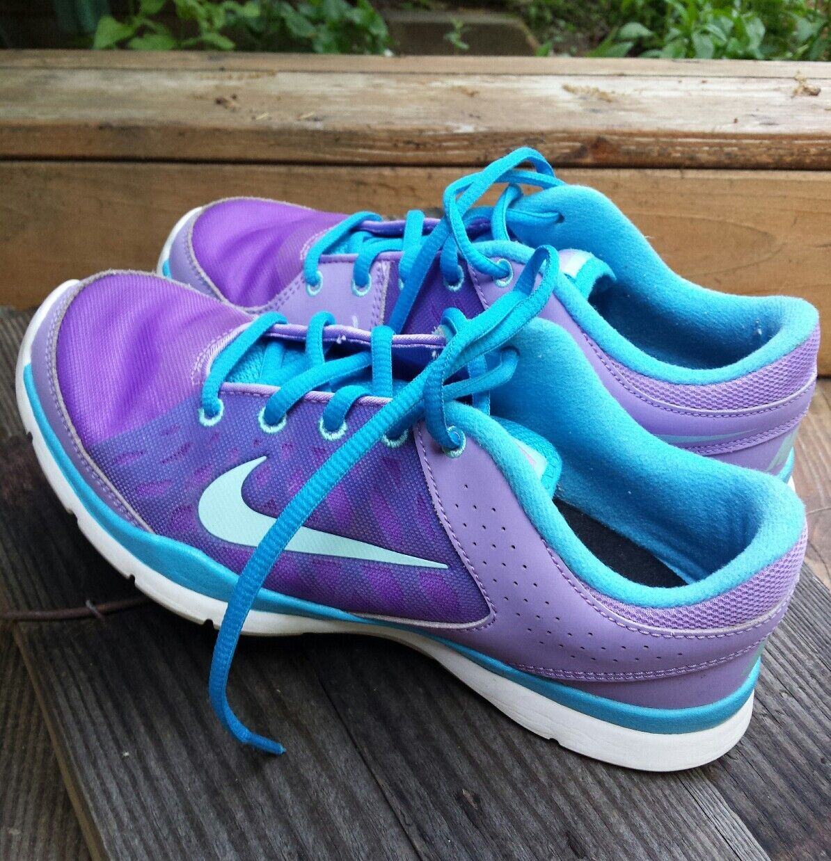 Nike Training Women's Purples Blue Swoosh Athletic Shoes Comfortable Cheap and beautiful fashion