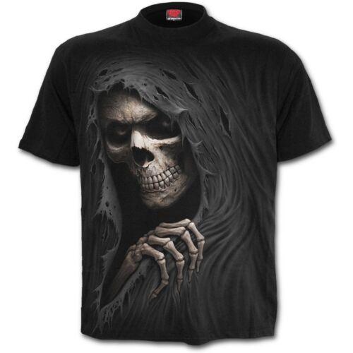 SPIRAL GRIM RIPPER T-Shirt Goth//Rock//Halloween//Grim Ripper//Death//Bones//Xmas//Tees