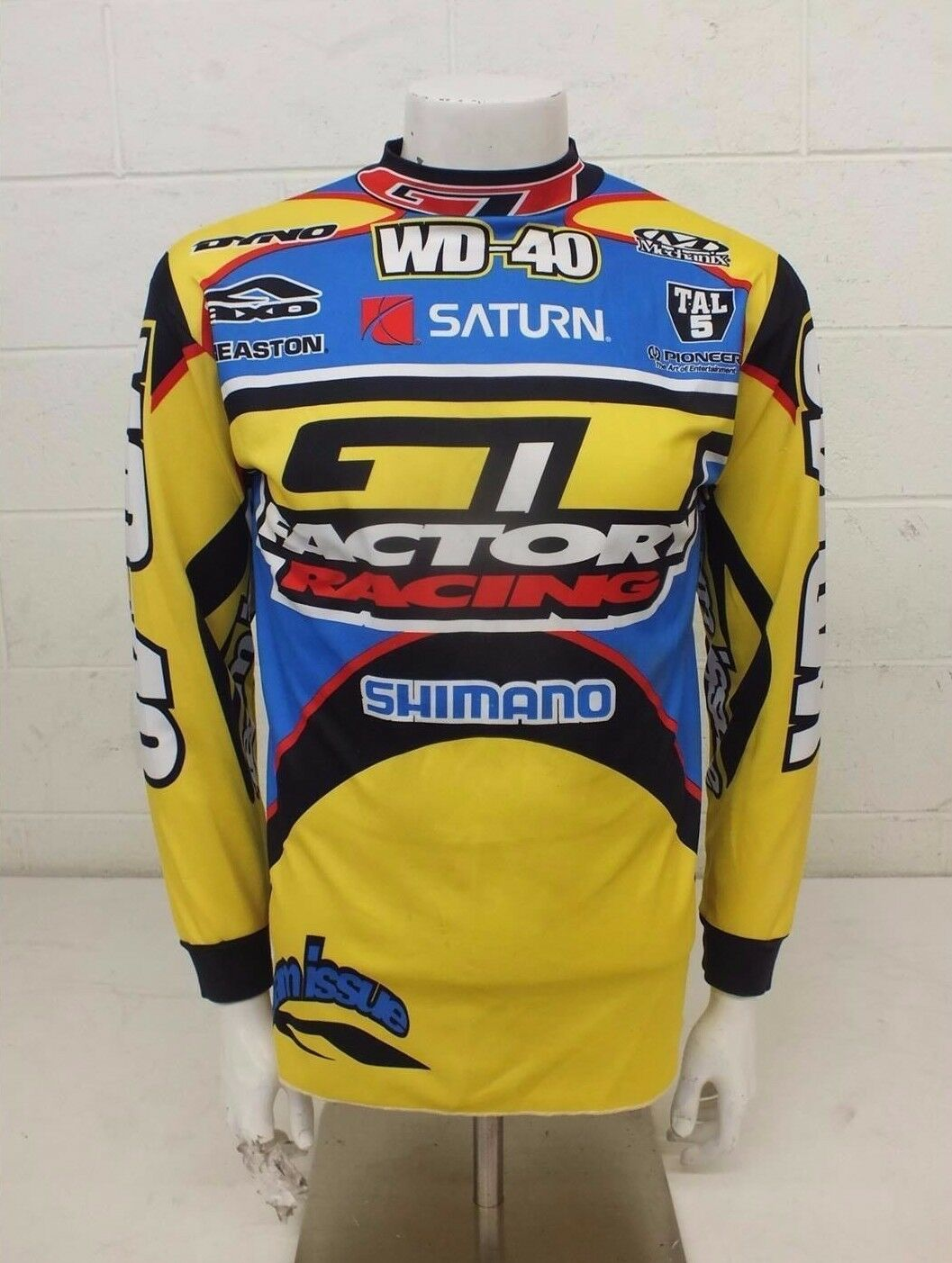 RARE Vintage Aussie GT Factory Racing Loose Fit Long Sleeve Bike Jersey Small