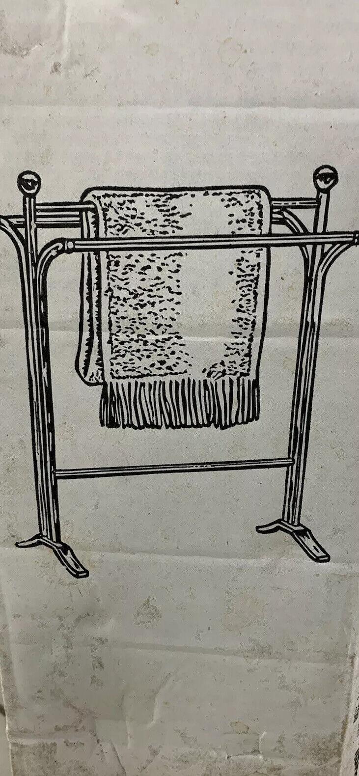 1 Brass Gold Quilt Blanket Rack Stand Floor Vintage NEW Never Used