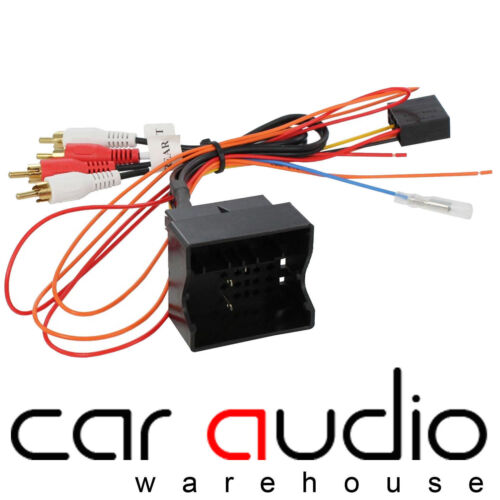 Audi A4 2005-2008 Car Stereo Rear Fully Amplified RCA Speaker Bypass Lead