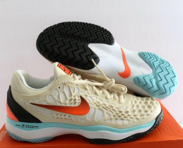 Buy Nike Air Zoom Cage 3 HC Light Cream-hyper Crimson Tennis Sz 7 ... 168af4976