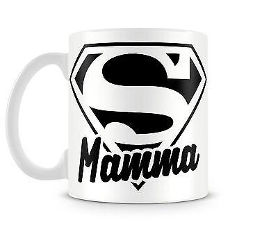 Tazza Mug SUPER MAMMA in ceramica idee regalo divertenti
