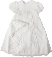 Feltman Brothers Girls Christening Gown White Batiste Lace Nb/3m 6/9m 9/12m