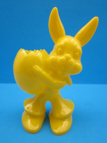 "VINTAGE 1950/'s.../""EASTER BUNNY/""  COLORFUL CANDY CONTAINER HARD PLASTIC.../""L@@K/"""