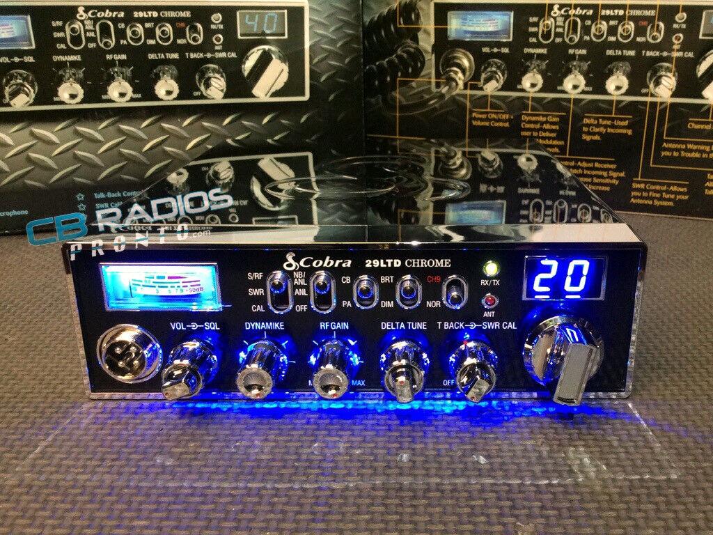Cobra 29 LTD Chrome-BLUE NITRO LED RINGS+PERFORMANCE TUNED+RECEIVE ENHANCED+ECHO. Buy it now for 329.00