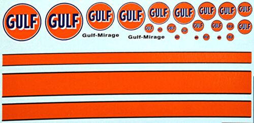 Gulf Sponsoren Bogen No.5-1:18 Decal Abziehbilder