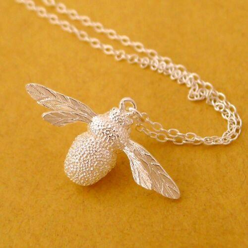 Collar de plata esterlina Bumble Bee joyas y arito Conjunto de Regalo