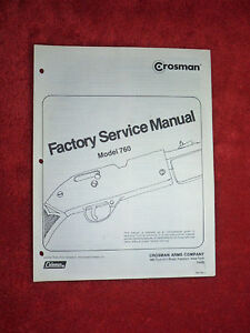 Crosman-760-Factory-Service-Manual-With-Two-2-Exploded-View