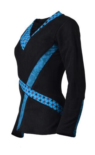Women/'s Long Sleeve Tops V-Neck polar fleece T-Shirt