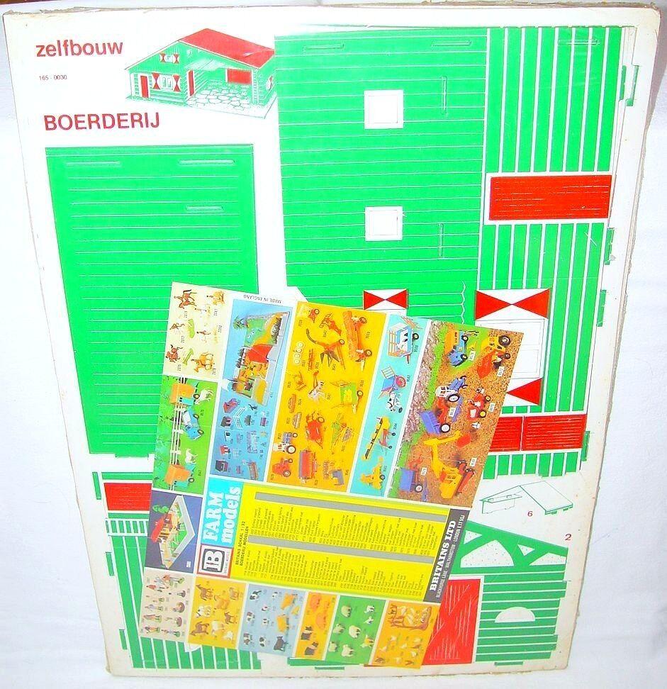 voitured Modells + Britains 1 32 Landwirtschafthaus & STABLES voitureton Modell Kit Playset MISB`74