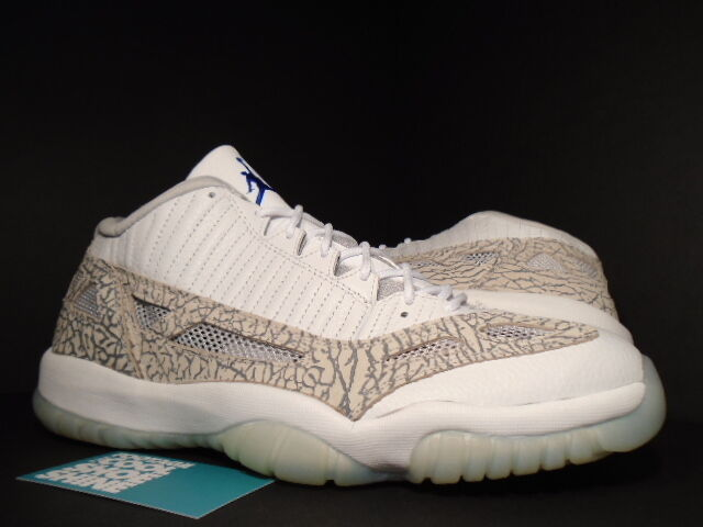 2003 Nike AIr Jordan XI 11 Retro Low WHITE COOL CEMENT GREY COBALT blueE ZEN 11.5