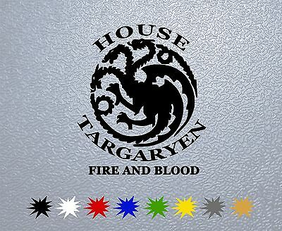 STICKER PEGATINA DECAL VINYL Game of Thrones House Targaryen Sigil