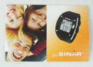 Gastfreundlich Go Sinar Uhren Prospekt Katalog Armbanduhr Werbung Armbanduhr Clockl B11428