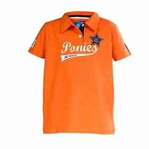 Horze Banji Jr Kids Jersey Polo Shirt With Logo Printing And Badges