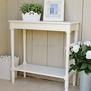 Cream Console Table ivory cream console table with shelf was £129.99 | ebay