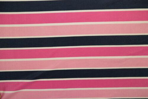 Pinks Stripe Print #534 Nylon Lycra Spandex 4 Way Stretch Swim Active BTY