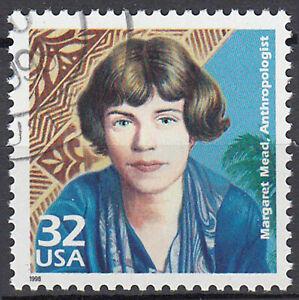 EE. UU. con sello redondo sello Margaret Mead ethnologe personalidad cultura/3371
