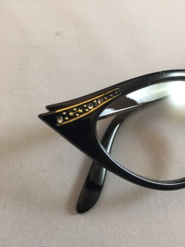 Women/'s 1950s Style Cat Eye Glasses Black Frame Clear Lenses