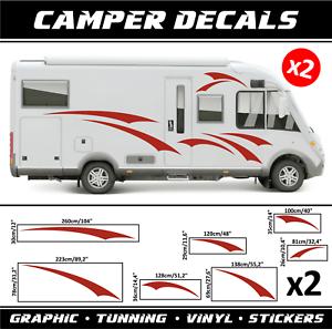 Camper Pegatinas Calcomanías 2x Caravana Autocaravana Van Tunning transportador de conjunto De Vinilo
