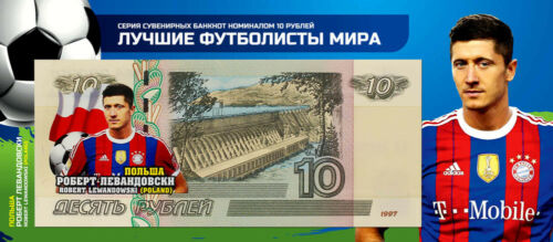 UNC! Set of 4 banknotes 2018 FIFA World Cup-Russia 10 ruble Group H
