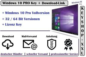 Windows-10-Pro-32-64-Bit-Vollversion-Win-10-Key-Aktivierungsschluessel-Mail