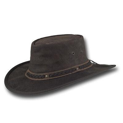 Barmah Hats Kangaroo Crackle Leather Hat - 1018CR / 1018HC