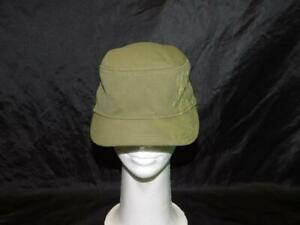Columbia-Youth-S-M-Green-Hat-Stitched-Flower-Design-Cap-Girls-Hike-Camp-Kids