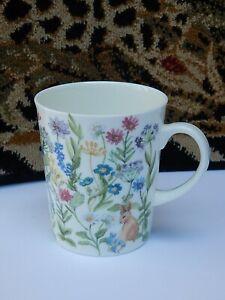 Stechcol Coastline Imports Gracie Bone China Coffee Tea Mug Flowers Bunny New Ebay