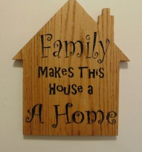 Family-Makes-This-House-A-Home-Wooden-Oak-Plaque