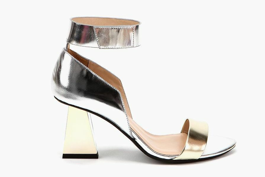 United Nude Womens Sandals Open Toe Alice Silver + gold Size  38 NEW