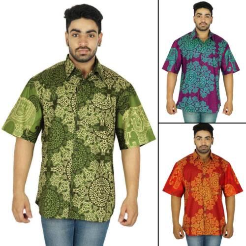 Kurzarm Baumwolle Knopf beiläufig hawaiianische Männer Shirt-SSH30A