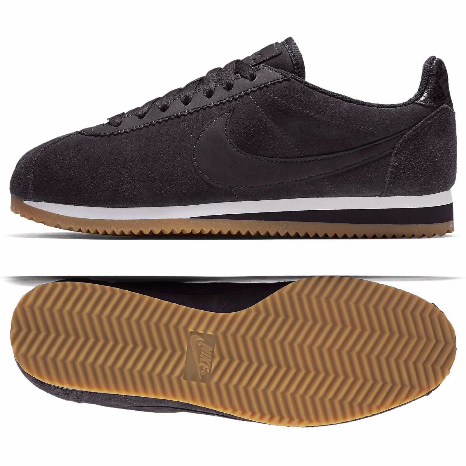 Nike WMNS Classic Cortez Premium ALC AH5206-001 Oil Grey Leather Women's Shoes The latest discount shoes for men and women