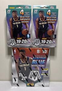 2019-2020-Panini-Mosaic-Basketball-Mega-amp-2-Hanger-Box-Lot-NBA-New-Sealed-Boxes