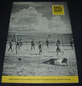 Werkzeitschrift-Opel-Post-fuer-Mitarbeiter-Nr-6-Stand-Juni-1959