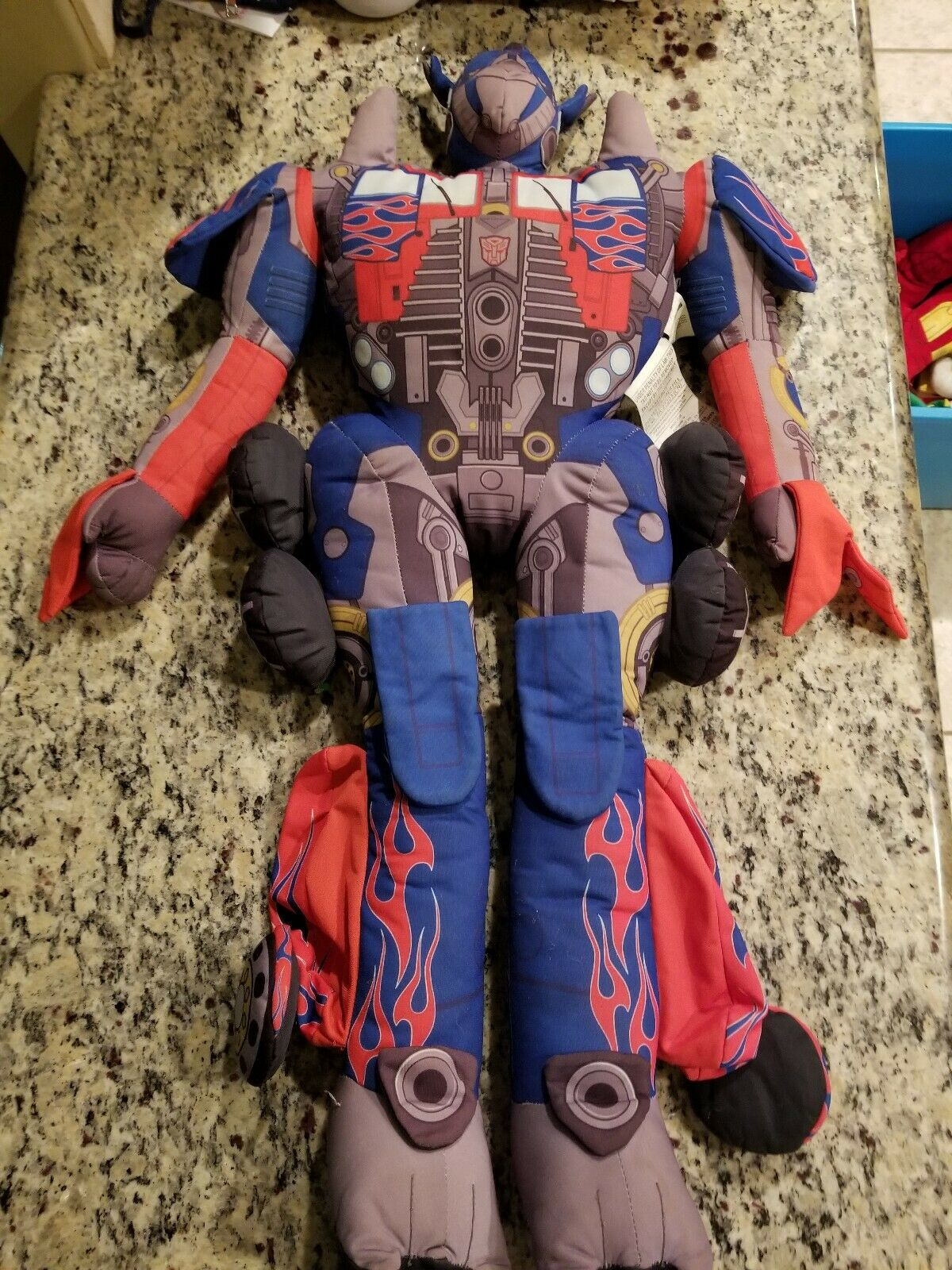 2007 Transformers Optimus Prime Plush Movie doll 32  Hasbro FREE SHIPPING
