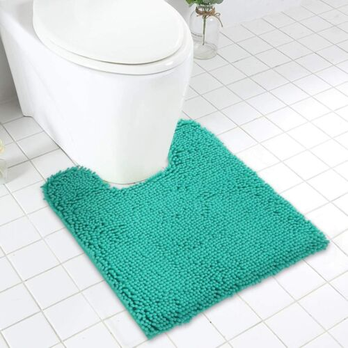 Details about  /MAYSHINE Non Slip Contour Bath Mats for Toilet//Soft Shaggy Chenille//Absorbent Wa
