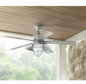 Outdoor Indoor 54 Quot Galvanized Ceiling Fan Remote Unique