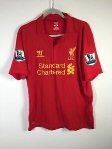 Liverpool-Warrior-8-Gerrard-2012-2013-Football-Home-Jersey-Shirt-Mens-Size-L