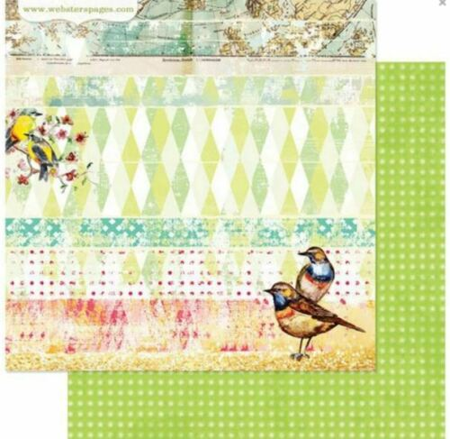 nid Collection Websters pages 12x12 scrapbooking papier nous appartiennent X 2 Feuilles